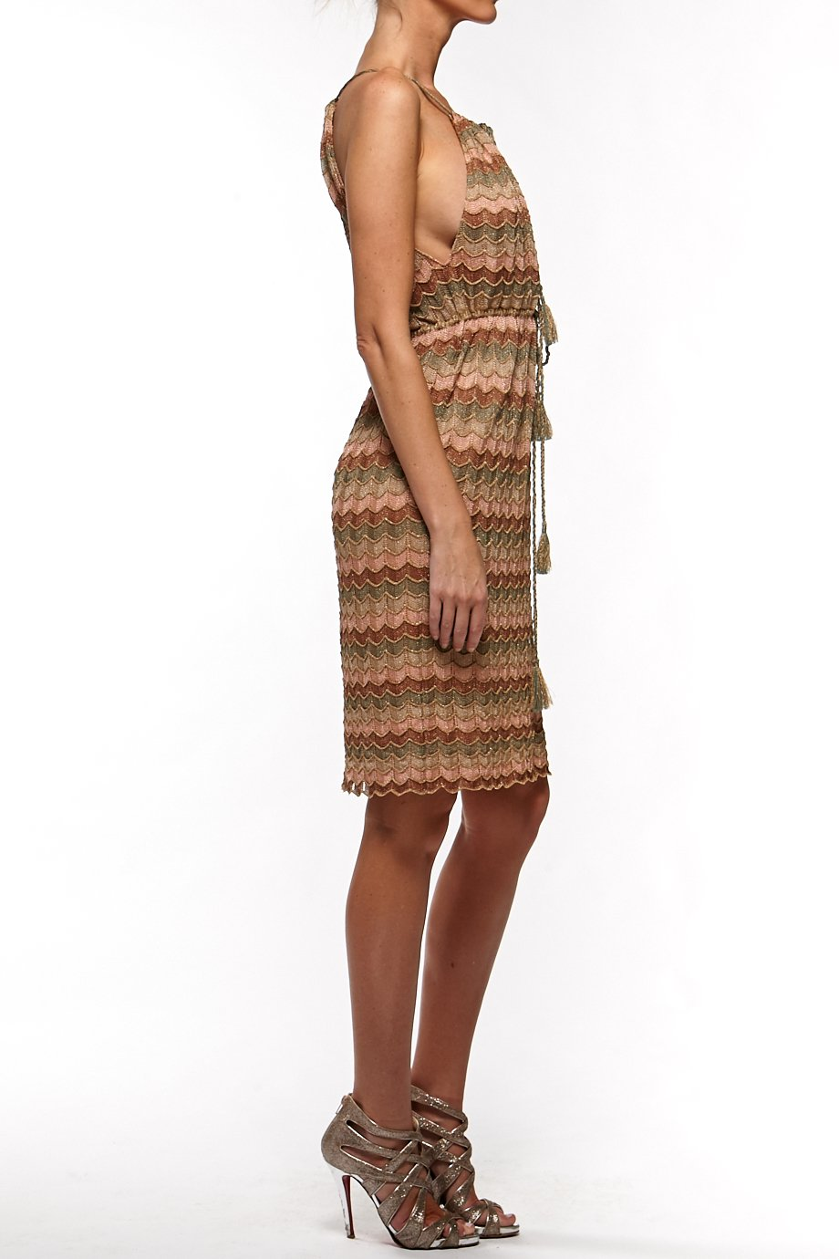 Missoni Olive and gold short dress
