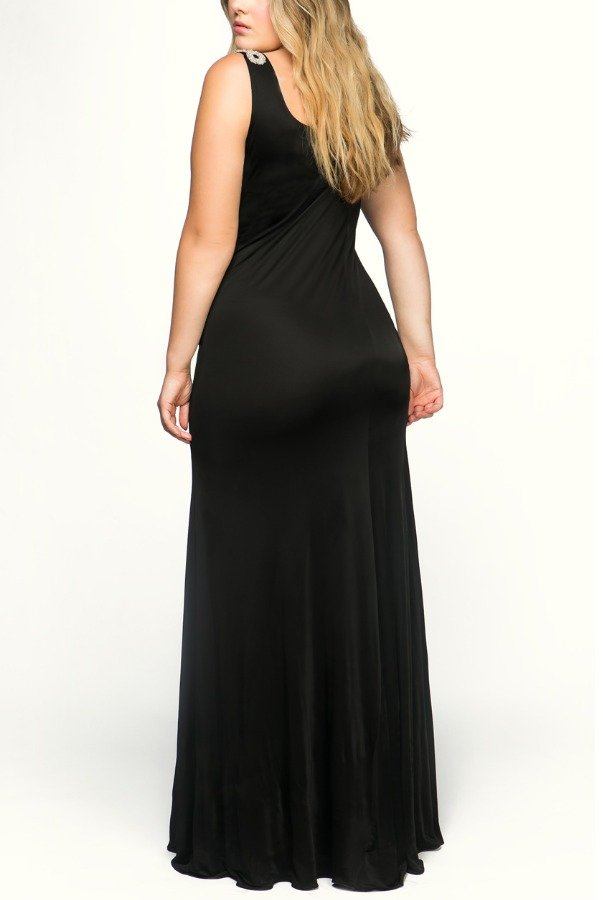 Emilio Pucci Vintage Black Beaded Maxi Sheer Gown