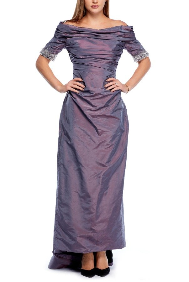 Catherine Regehr Off the Shoulder Formal Lilac Ball Gown