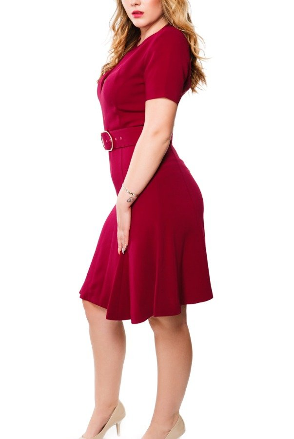 Stella McCartney Burgundy Sierra Stretch Cocktail Dress