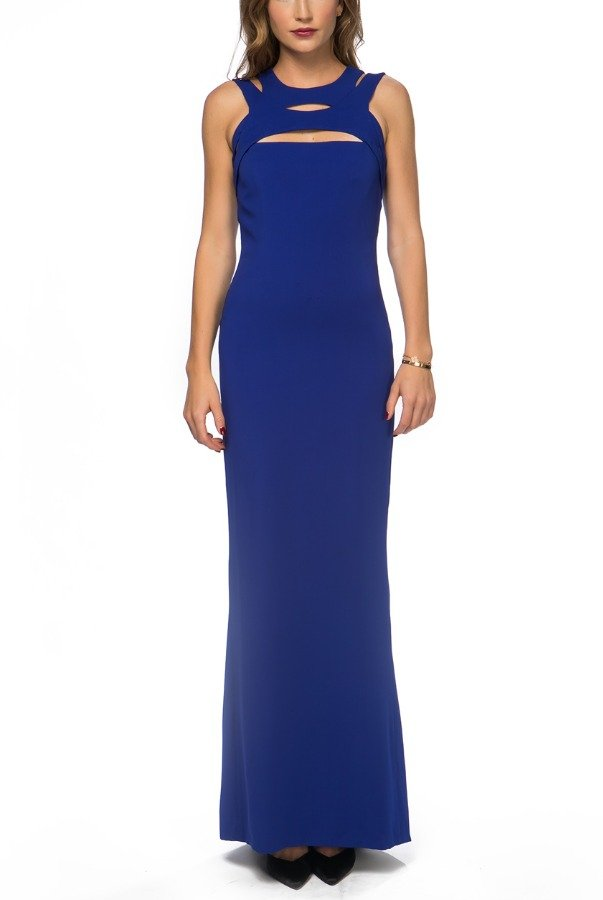 Gucci Royal Blue Cut Out Sleeveless Fishtail Gown