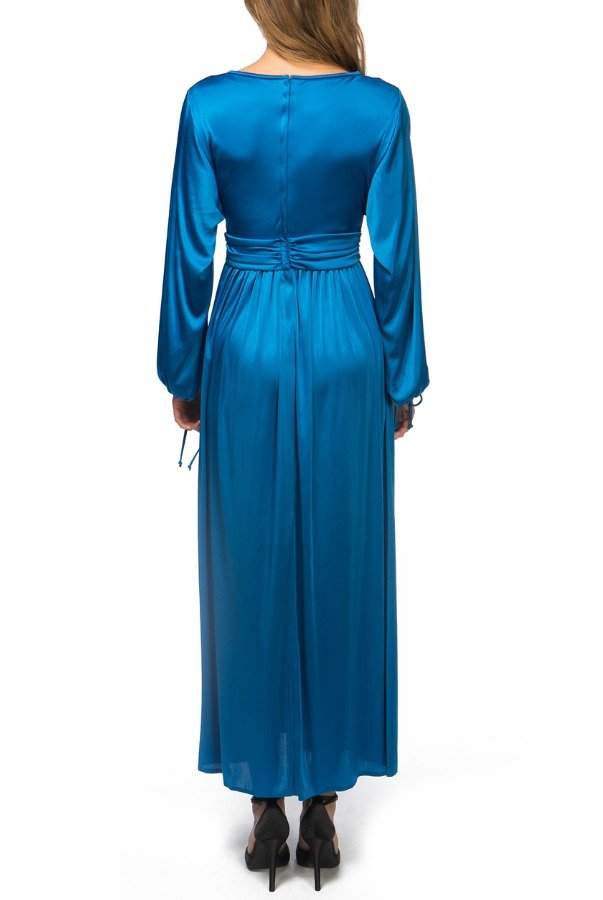House of Bianchi Vintage 70s Blue Maxi Dress