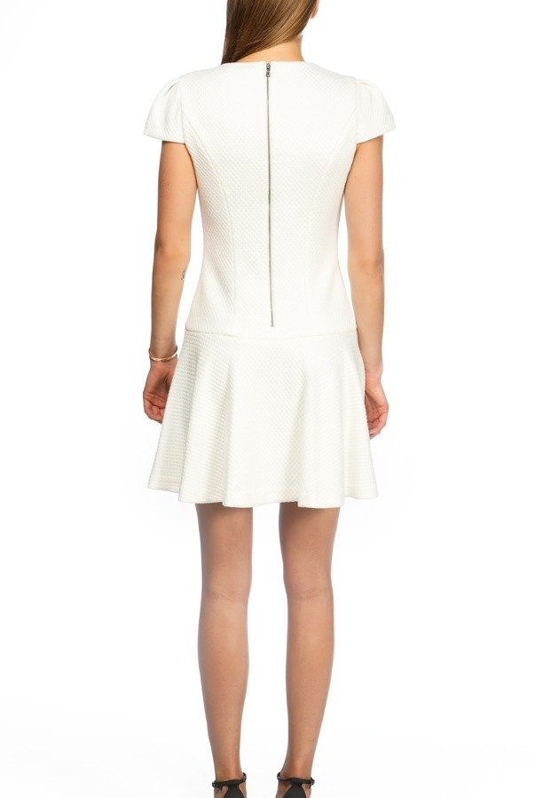 Alice and Olivia White Cap Sleeve Knit Dress
