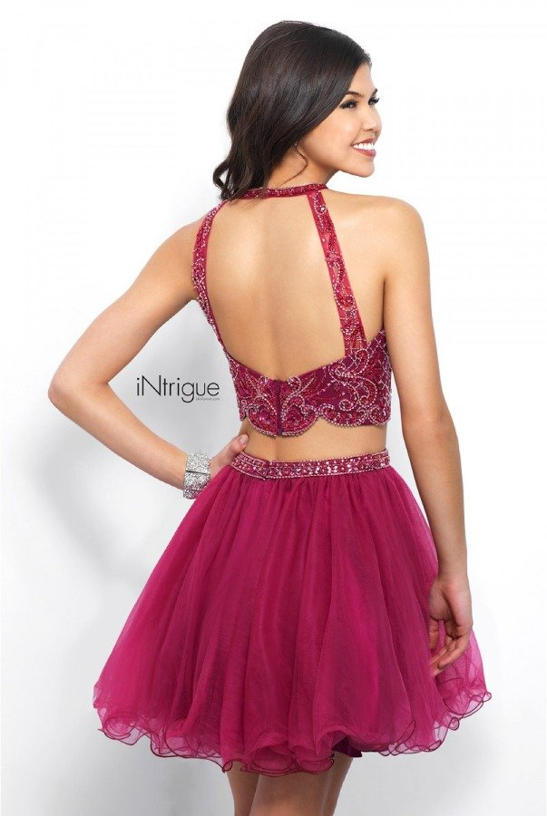 Blush Prom 360 Two Piece Burgundy Homecoming Dress