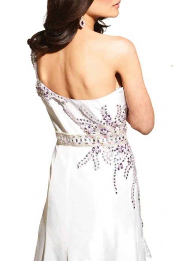 Terani Couture Hi Lo Beaded Prom Dress by Terani Couture Prom