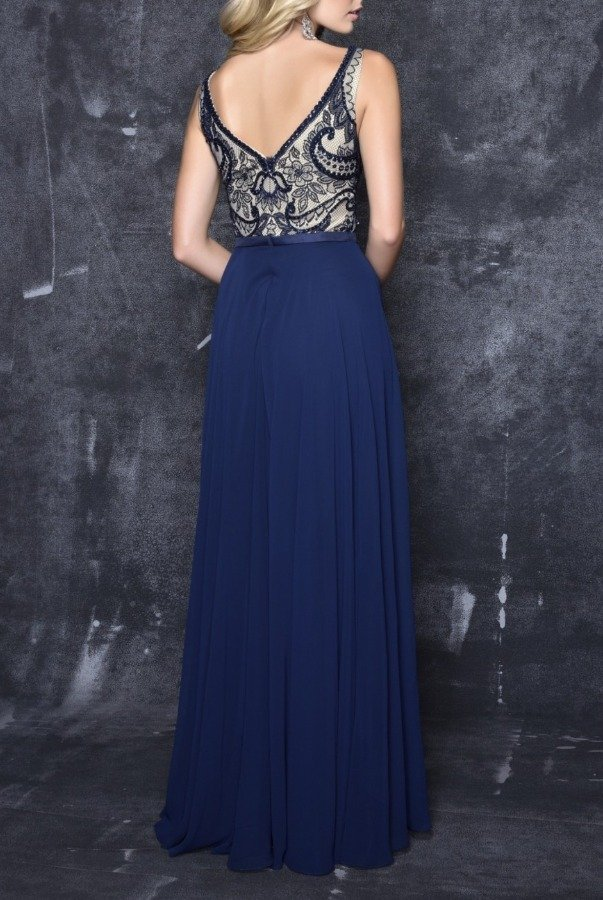 Nina Canacci  Blue Floral Charm Gown 4114