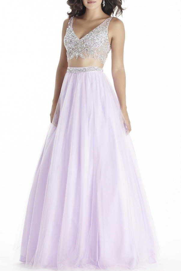 Jolene Lilac Two Piece  A Line Ball Gown 17029