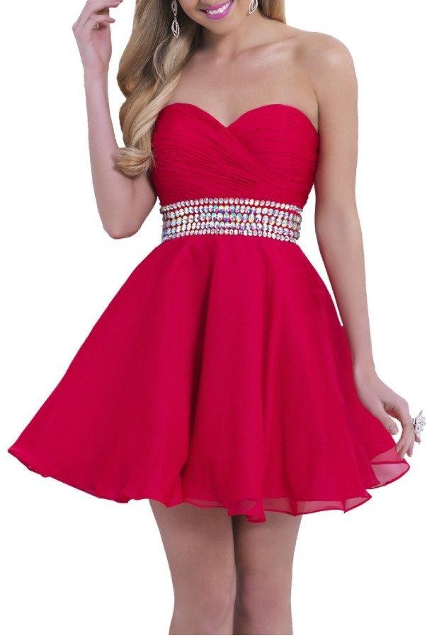 Blush Prom Cherry Flowy Cocktail Dress 9861
