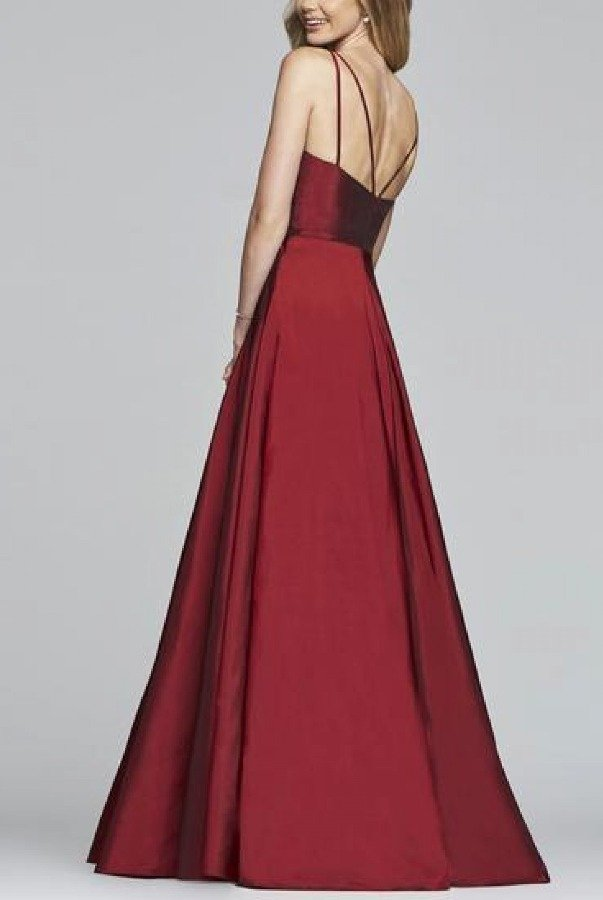 Faviana Red V-Neck Ballgown S10249