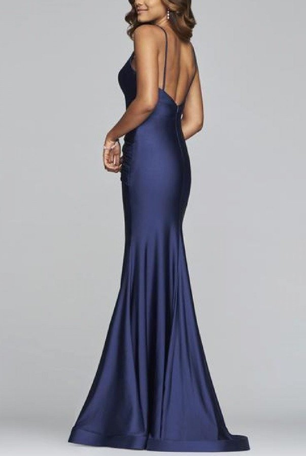 Faviana Blue Fitted Mermaid Gown S10212