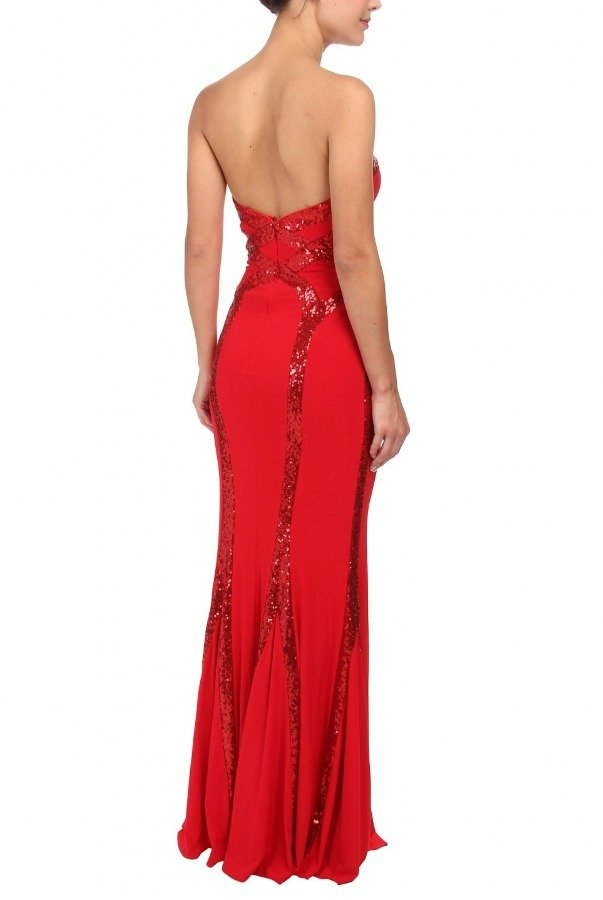 Faviana Red Sequin Gown 7582