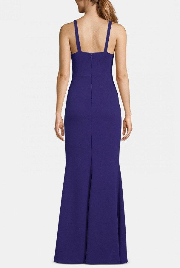 Betsy and Adam  Royal Front Slit Gown A22163