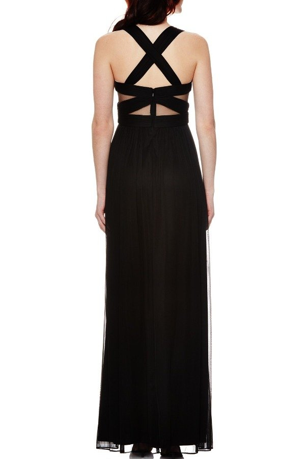 Betsy and Adam  Black Cross Back Gown A14947M