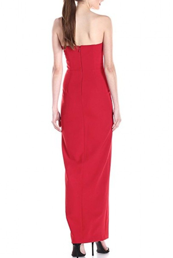 Nicole Miller Pink Crepe Pointed Strapless Gown BQ10129