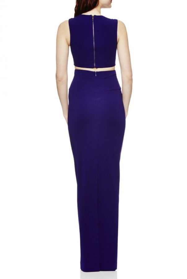 Nicole Miller PurpleSleeveless Queen of the Night Dress CF10066