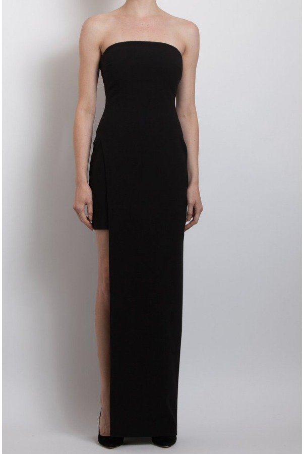 Likely Black Demeyer with Slit Gown Yd244001ly