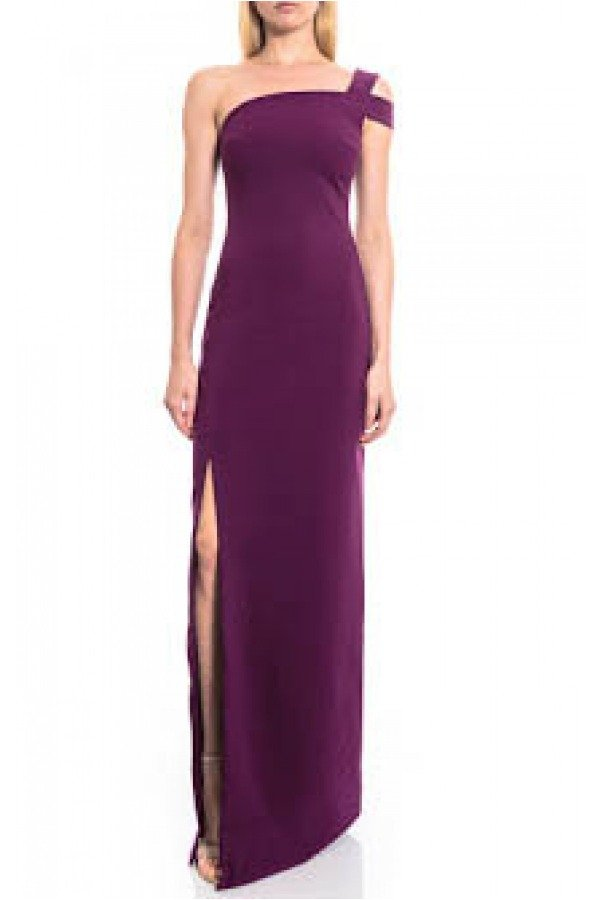 Likely Plum One Shoulder with Slit Gown YD269001LY