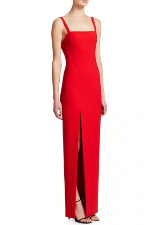 Likely Red Bethany Column with Slit Gown YD885001LYB