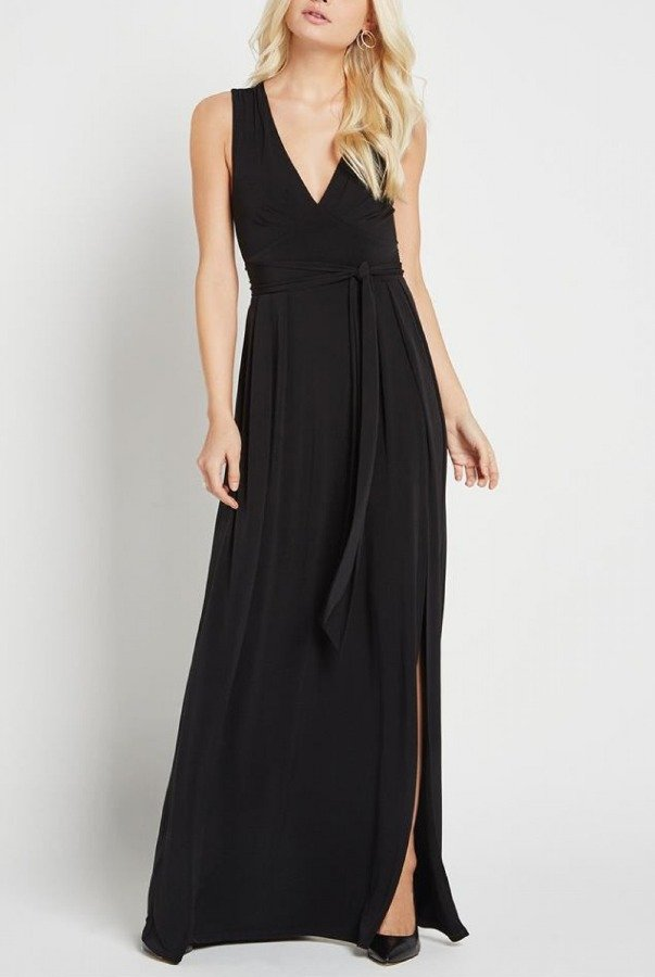BCBGeneration Black Belted Gown YDM60M00