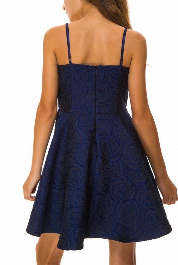 Un Deux Trois Blue Floral Party Dress N3224K