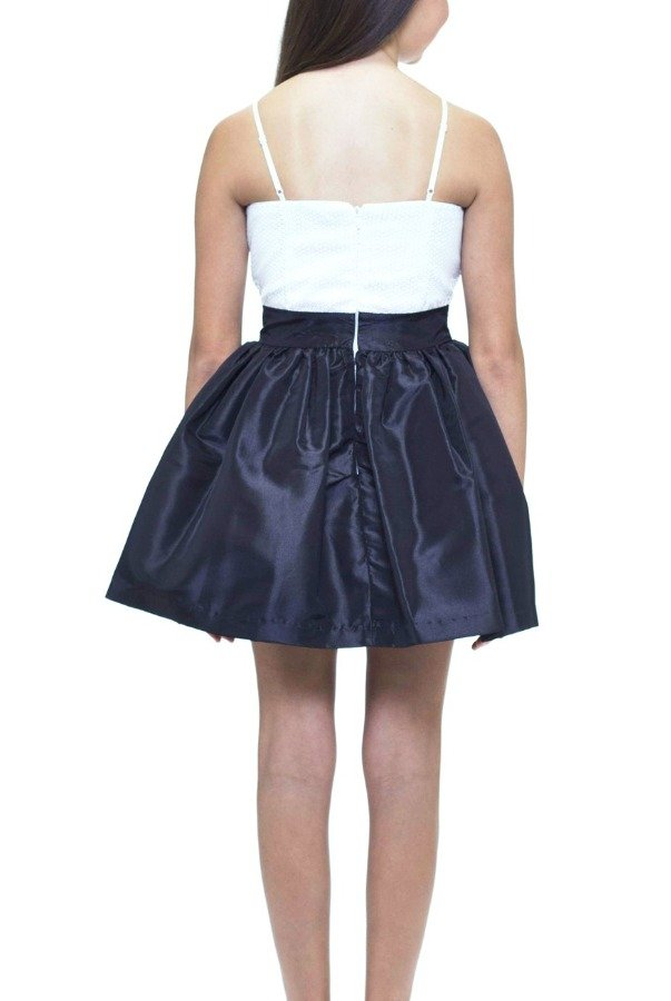 Un Deux Trois Black and White Party Dress T2183KT