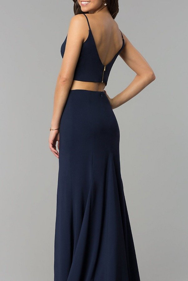 Jump Navy Two-Piece Fitted Gown 10680