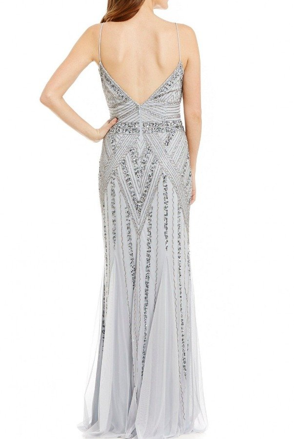 Marina Blue Beaded Gown 10582I