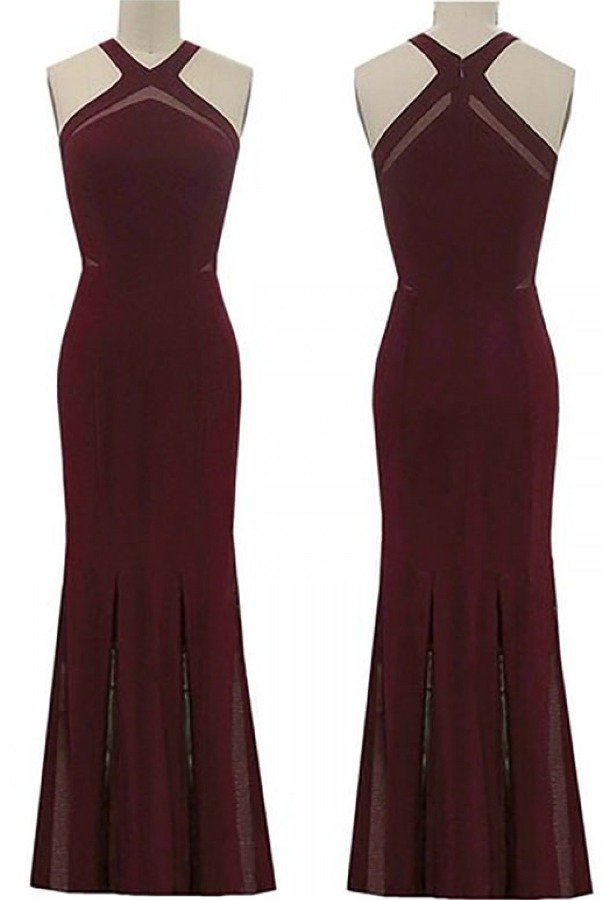 Nightway Wine Halter Mermaid Dress 21586W