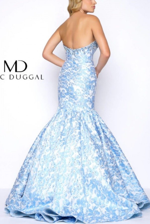 MacDuggal Blue Mermaid Gown 66018