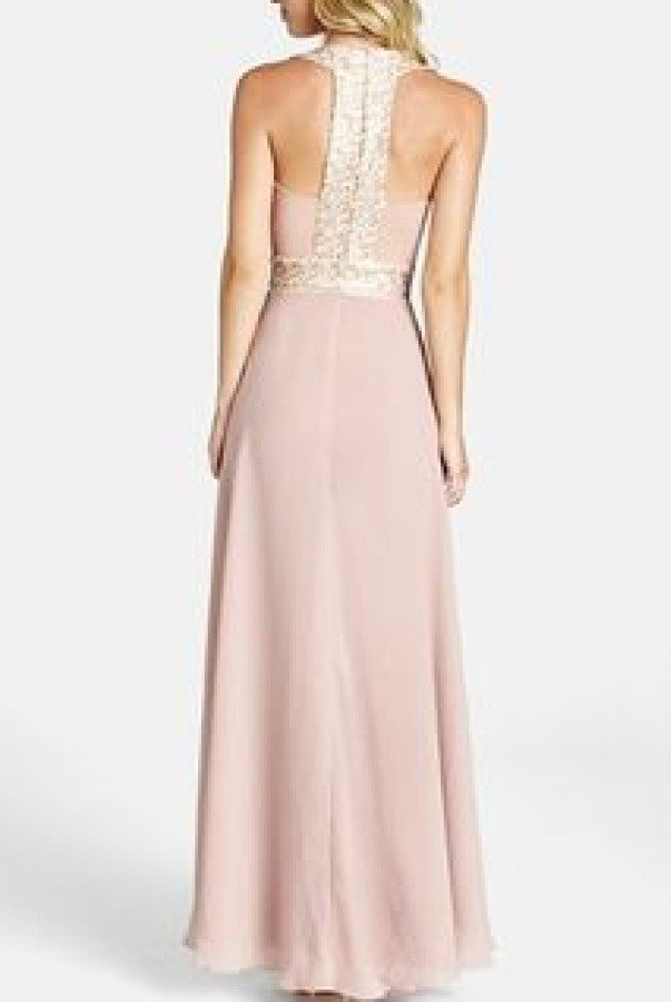 Dress The Population Blush Sequined Delani A Line Gown DELANI B