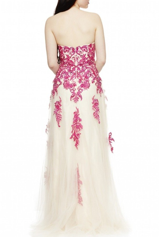 Dave and Johnny Nude Beaded Ballgown 1340