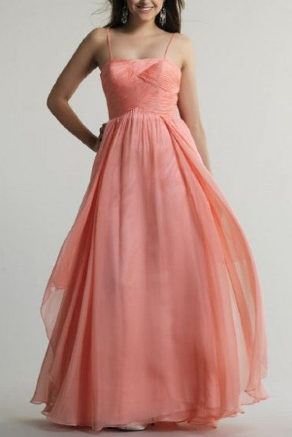 Dave and Johnny Pink Wrapped Bodice Gown 10205