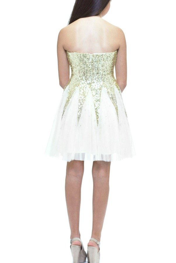 Josh and Jazz Gold Sequin Dress DY586420