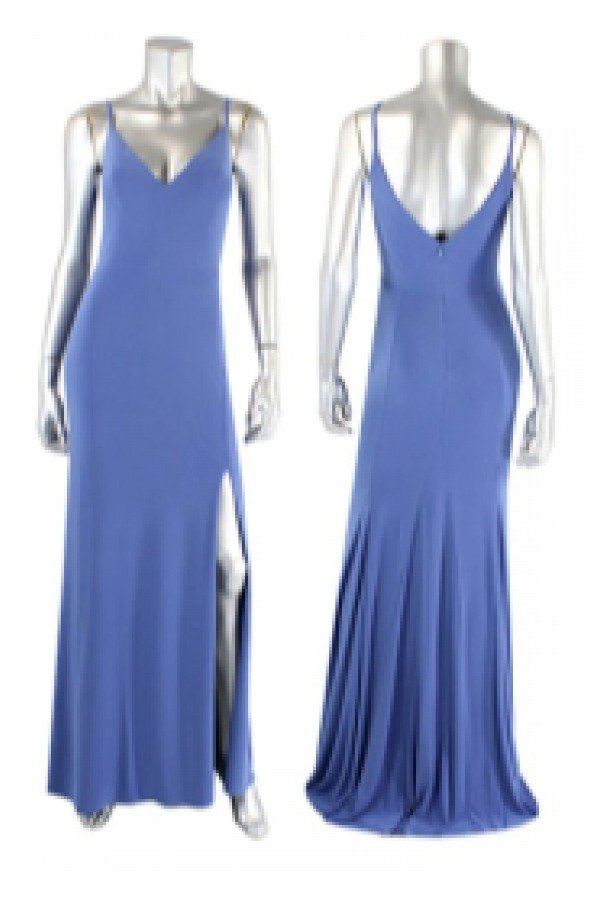 Jump Periwinkle V-Neck Gown 10695-Peri