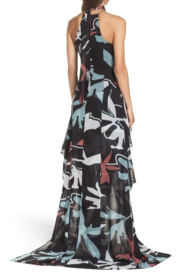 CMEO Collective Take a Hold Gown Halter Dress w Slit