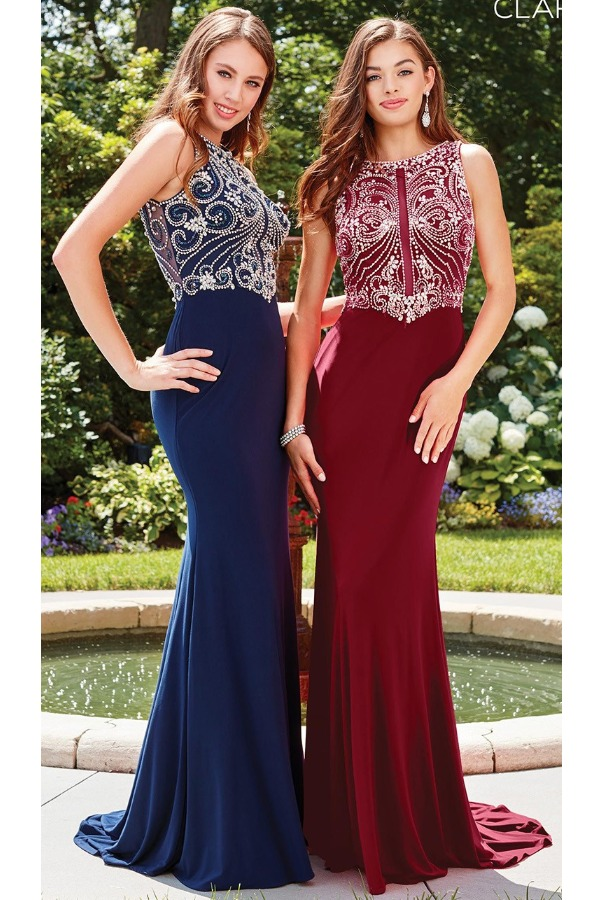 Clarisse Crystal Delight Ruby Red Gown 3075