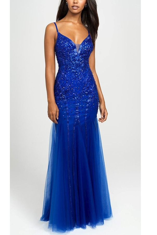 Madison James Harmony Hourglass Blue Gown 19-105