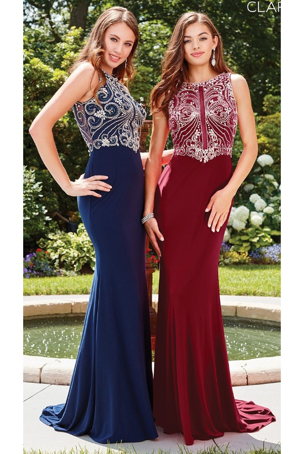 Clarisse Crystal Delight Navy Blue Gown 3075