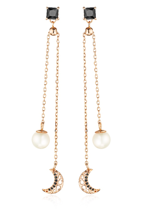 Sandugash Gallo Jewelry EVGENIYA Rose Gold Plated With Fresh Water Pearl
