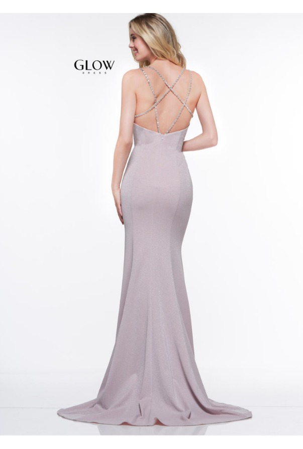 Colors Dress V Neck Pink Gown Long Evening Prom Dress
