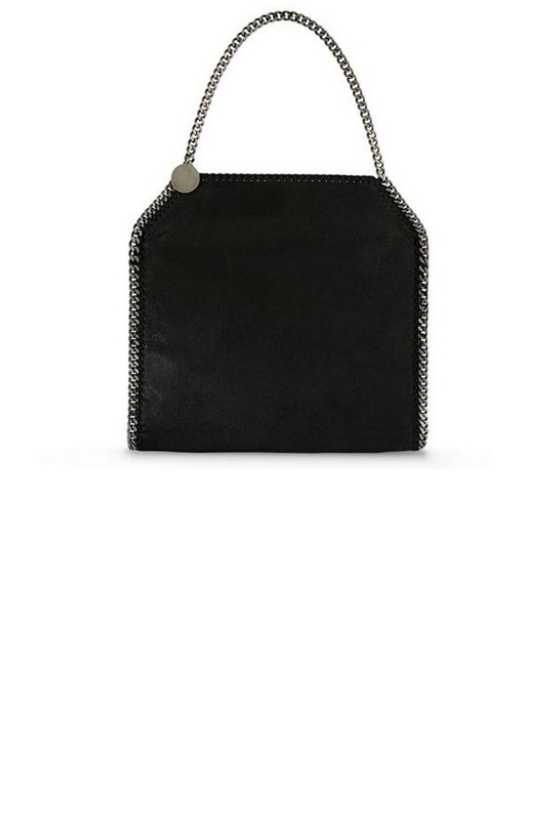 Stella McCartney Falabella Black Shaggy Deer Tote