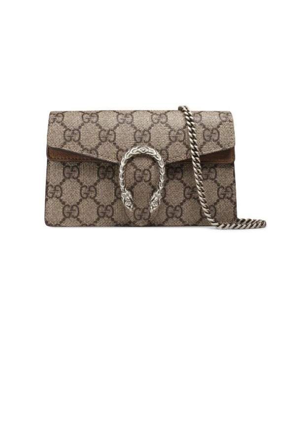 Gucci Dionysus GG Supreme Super Mini Bag Wallet on Chain