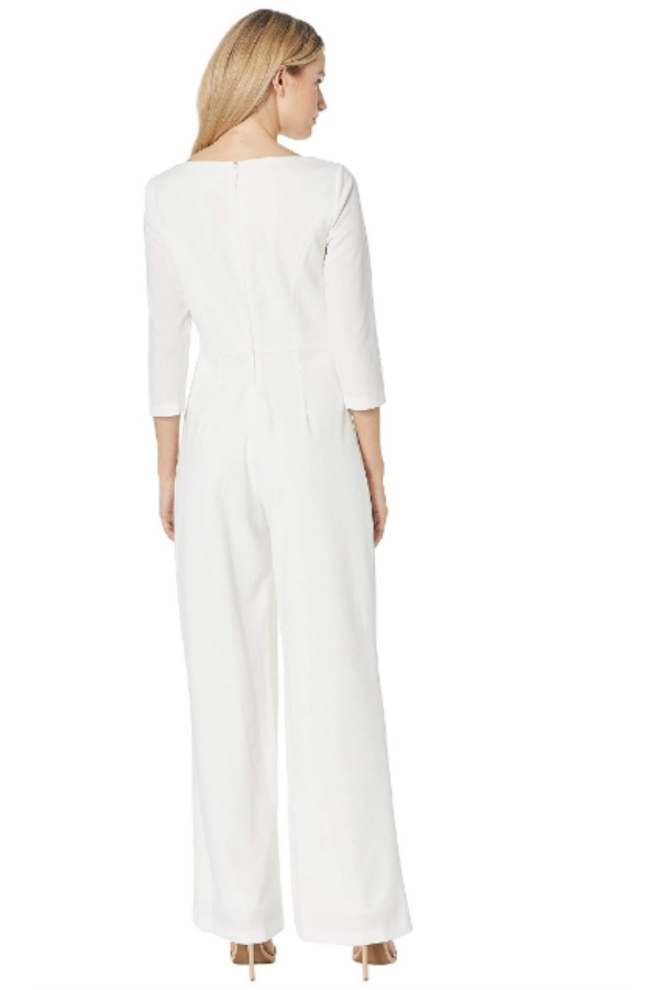 Adrianna Papell Long sleeve White Ivory Jumpsuit
