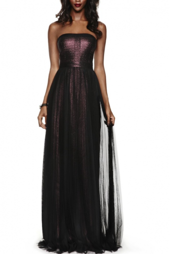 Adrianna Papell Shimmer Jacquard Ball Gown Orchid