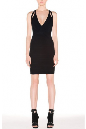 Black Dema Bandage Dress