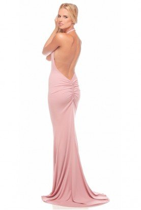 Abyss Coco Halter Dress in Pink