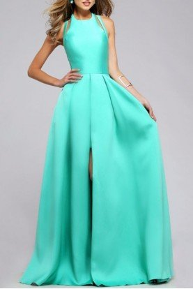 Faviana Posh High Low Gown hi lo 7752 Mint Spearmint Dress