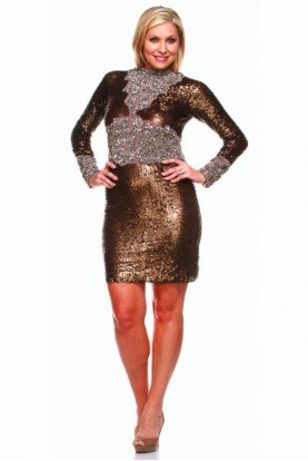 Rowena Gold Sequin Dress