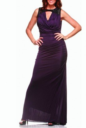 Badgley Mischka Spectacularly Chic Purple Badgley Gown Dress