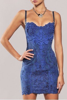 Cobalt Corset Dress in Cobalt Blue